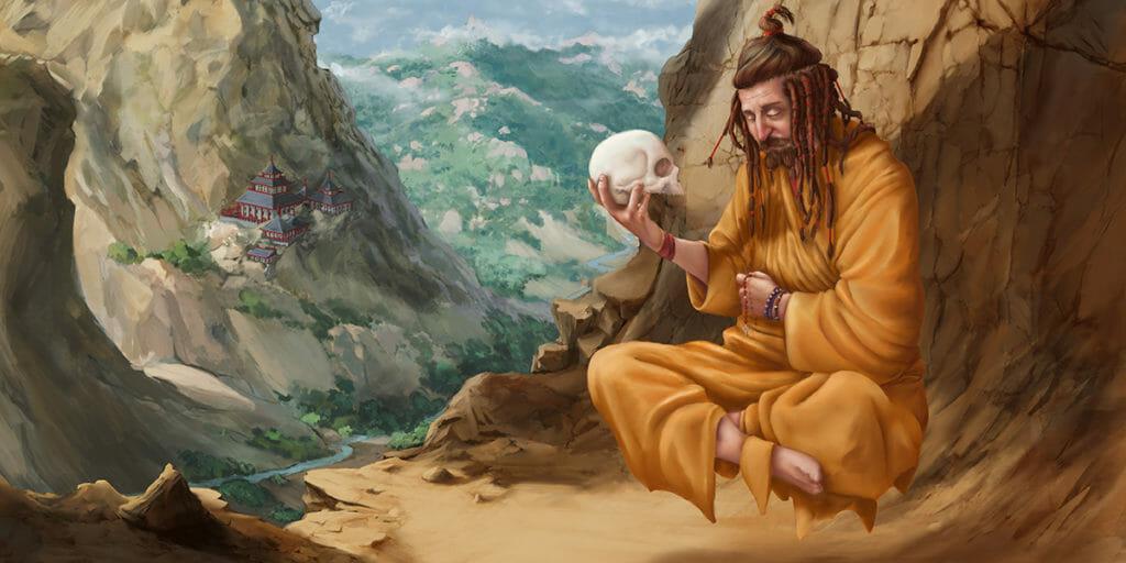 Monk Meditation Concentration